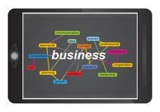 Conceito do negócio com nuvem da etiqueta Imagens de Stock Royalty Free