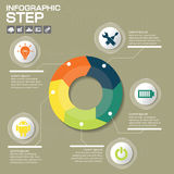 Conceito do negócio com 5 opções, porções, etapas ou processos lata Imagem de Stock Royalty Free