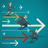 Conceito do negócio, comparação visual da concorrência dos bu Imagens de Stock Royalty Free
