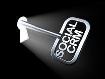 Conceito do negócio: CRM social na chave Foto de Stock Royalty Free