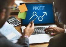 Conceito do negócio da economia das oportunidades do lucro da elevação da finança fotos de stock
