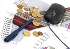 Conceito do negócio, da economia e da finança Fotografia de Stock