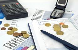 Conceito do negócio, da economia e da finança Imagens de Stock Royalty Free