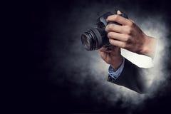 Conceito do negócio da foto Meios mistos fotos de stock