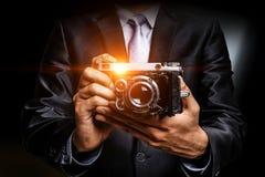 Conceito do negócio da foto Meios mistos fotos de stock royalty free