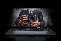 Conceito do negócio da foto Meios mistos imagem de stock royalty free