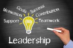 Conceito do negócio da liderança Foto de Stock
