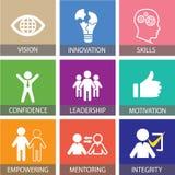 Conceito do negócio da liderança Líder People Icon Typography Fotos de Stock Royalty Free
