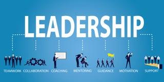 Conceito do negócio da liderança Líder People Icon Typography Foto de Stock