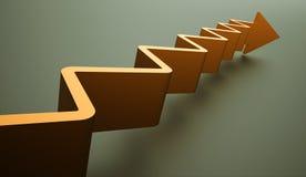Conceito do negócio da seta da escada rendido ilustração stock