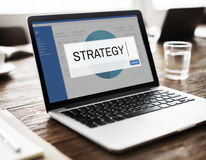 Conceito do negócio da solução de Strategy Analytics fotos de stock royalty free