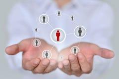 Conceito do negócio, da tecnologia, do Internet, dos trabalhos em rede e do recrutamento Fotografia de Stock Royalty Free