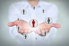 Conceito do negócio, da tecnologia, do Internet, dos trabalhos em rede e do recrutamento Imagem de Stock