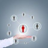 Conceito do negócio, da tecnologia, do Internet, dos trabalhos em rede e do recrutamento Imagens de Stock