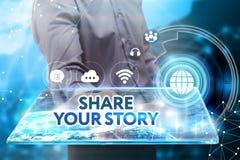 Conceito do negócio, da tecnologia, do Internet e da rede Busine novo Foto de Stock