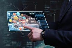 Conceito do negócio, da tecnologia, do Internet e da rede Busine novo foto de stock royalty free