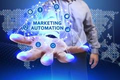Conceito do negócio, da tecnologia, do Internet e da rede Busine novo Imagem de Stock