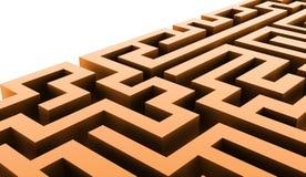 Conceito do negócio de Labirinth rendido ilustração do vetor