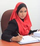 Conceito do negócio de Muslimah Foto de Stock