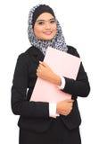 Conceito do negócio de Muslimah fotografia de stock royalty free