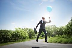 Conceito do negócio de Relaxation Refreshing Success do homem de negócios Imagens de Stock