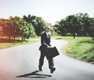 Conceito do negócio de Relaxation Refreshing Success do homem de negócios Imagem de Stock Royalty Free