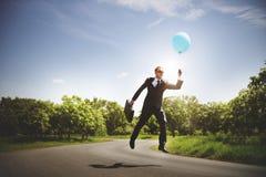 Conceito do negócio de Relaxation Refreshing Success do homem de negócios fotografia de stock royalty free