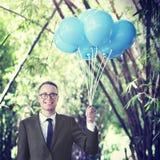 Conceito do negócio de Relaxation Refreshing Success do homem de negócios imagem de stock