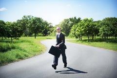 Conceito do negócio de Relaxation Refreshing Success do homem de negócios foto de stock