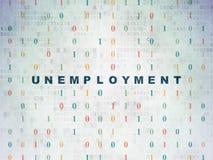 Conceito do negócio: Desemprego em digital Imagens de Stock