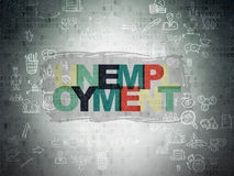 Conceito do negócio: Desemprego no papel de Digitas Imagens de Stock