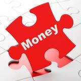 Conceito do negócio: Dinheiro no fundo do enigma Fotos de Stock