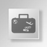 conceito do negócio do ícone da bagagem 3D Imagens de Stock Royalty Free