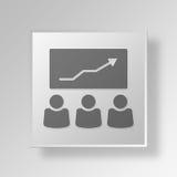 conceito do negócio do ícone da reunião de negócios 3D Imagem de Stock Royalty Free
