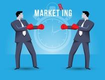 Conceito do negócio do anel do mercado ilustração royalty free