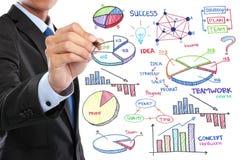 Conceito do negócio do desenho do homem de negócios Imagens de Stock Royalty Free