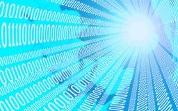Conceito do negócio, do Internet e da tecnologia - próximo acima do córrego de dados ilustração 3D Foto de Stock Royalty Free