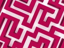 Conceito do negócio do labirinto rendido ilustração stock