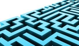 Conceito do negócio do labirinto rendido ilustração do vetor