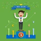 Conceito do negócio do melhor vendedor, ilustração do vetor Fotos de Stock Royalty Free