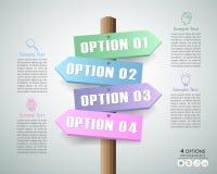 Conceito do negócio do molde do projeto infographic Fotografia de Stock