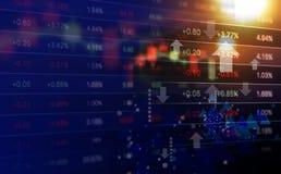 Conceito do negócio do projeto do fundo do mercado de valores de ação foto de stock