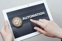 Conceito do negócio do sistema do processo da tecnologia de software da automatização Fotografia de Stock Royalty Free