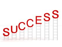 Conceito do negócio do sucesso com escadas Imagens de Stock
