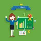 Conceito do negócio do sucesso de vendas, ilustração do vetor Foto de Stock Royalty Free