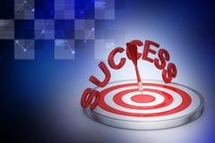 Conceito do negócio do sucesso do alvo do dardo Imagem de Stock
