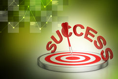 Conceito do negócio do sucesso do alvo do dardo Foto de Stock Royalty Free