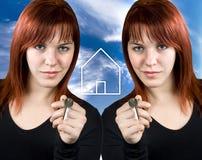 Conceito do negócio dos bens imobiliários Imagem de Stock Royalty Free
