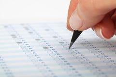 Formulário de avaliação Imagens de Stock