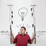 Conceito do negócio: esforço e fins do prazo Fotografia de Stock